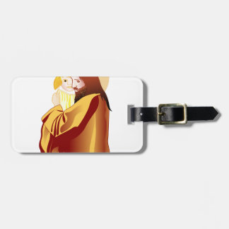 Jesus And Child Bag Tag