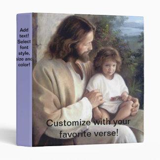 Jesus and Child Customizable Binder