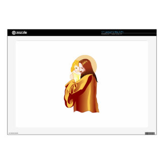 Jesus And Child Laptop Decal