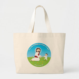 Jesus and Child Large Tote Bag