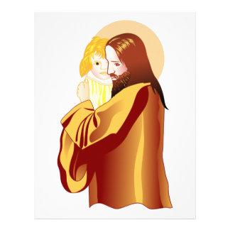 Jesus And Child Letterhead