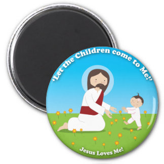 Jesus and Child Magnet