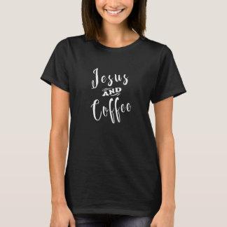 Jesus and Coffee - White T-Shirt