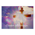 Jesus and Glowing Cross Easter Card