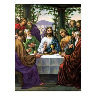 Jesus And His Friends In The Upper Room Postcard