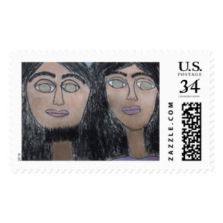 Jesus and Karyn U.S. Custom Large (Postcard) Stamp