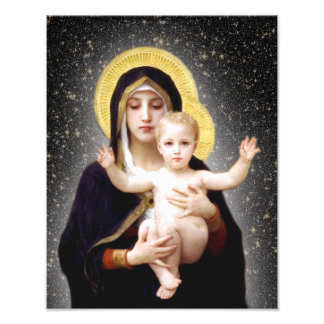 JESUS AND MARY DEVOTIONAL IMAGE. PHOTO PRINT