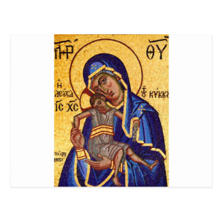 Jesus and Mary Mosaic Picture Postcard