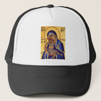 Jesus and Mary Mosaic Picture Trucker Hat