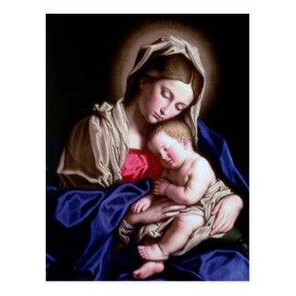 JESUS AND MARY POSTCARD