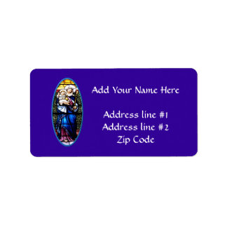 Jesus and Mary stained glass window Address Label