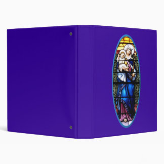 Jesus and Mary stained glass window Binder