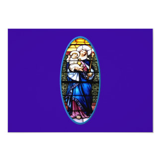 Jesus and Mary stained glass window Card