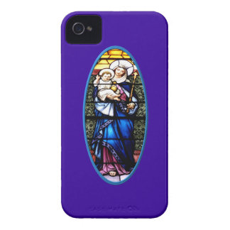Jesus and Mary stained glass window Case-Mate Blackberry Case