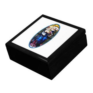 Jesus and Mary stained glass window Jewelry Box