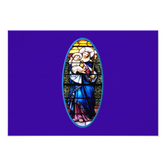 Jesus and Mary stained glass window Announcement