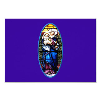Jesus and Mary stained glass window 3.5x5 Paper Invitation Card
