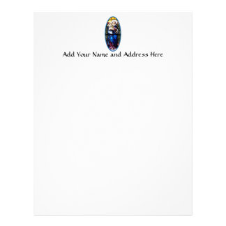 Jesus and Mary stained glass window Customized Letterhead