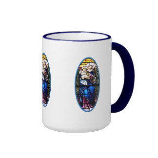Jesus and Mary stained glass window Mugs