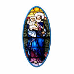 Jesus and Mary stained glass window Photo Cut Outs