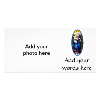 Jesus and Mary stained glass window Photo Greeting Card