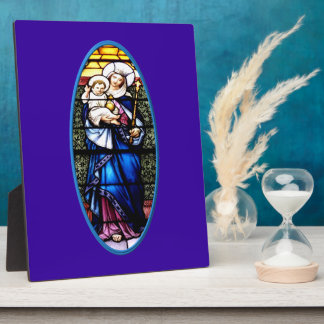 Jesus and Mary stained glass window Photo Plaques