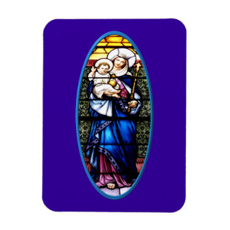 Jesus and Mary stained glass window Flexible Magnet