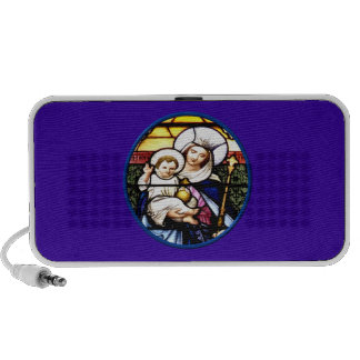 Jesus and Mary stained glass window PC Speakers