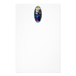 Jesus and Mary stained glass window Custom Stationery