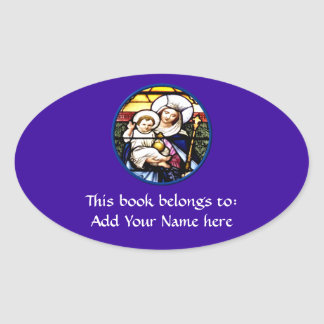 Jesus and Mary stained glass window Sticker