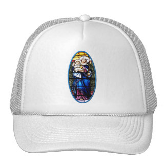 Jesus and Mary stained glass window Trucker Hat