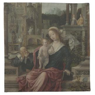 Jesus and Mother Mary Breastfeeding Napkin