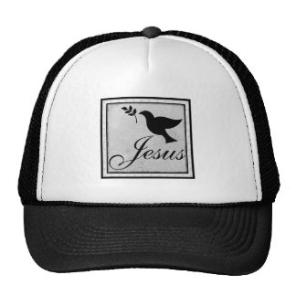 Jesus and Peaceful Dove Trucker Hat