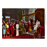 Jesus and Pilate Greeting card 2