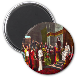 Jesus and Pilate Magnet