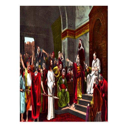 Jesus and Pilate Postcard
