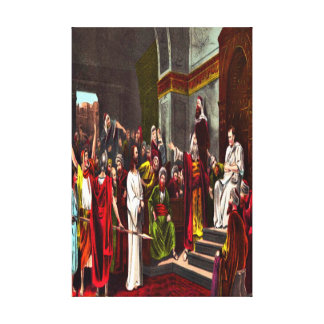 Jesus and Pilate Wrapped Canvas Canvas Print