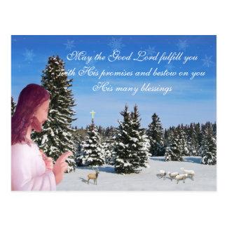 Jesus and Sheep Postcard