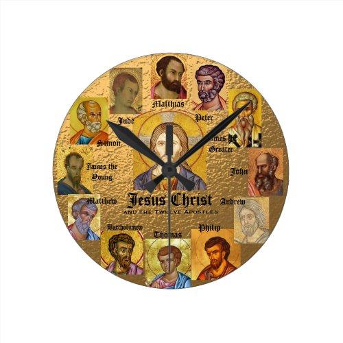 Jesus and the 12 Apostles Clock