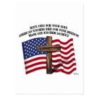 Jesus and the American Soldiers rugged cross US... Postcard