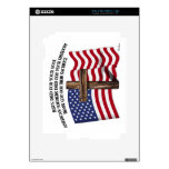 Jesus and the American Soldiers rugged cross US... iPad 2 Decals