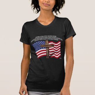 Jesus and the American Soldiers rugged cross US... T Shirts