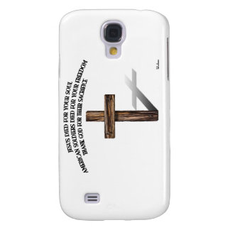 Jesus and the American Soldiers with rugged cross Samsung Galaxy S4 Covers