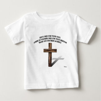 Jesus and the American Soldiers with rugged cross Infant T-shirt
