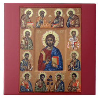 JESUS AND THE APOSTLES ICON DECORATIVE TILE