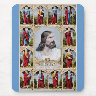 Jesus and the Apostles mousepad