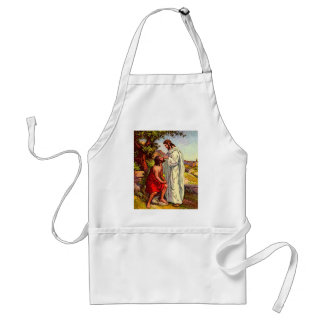 Jesus and The Blind Man Adult Apron