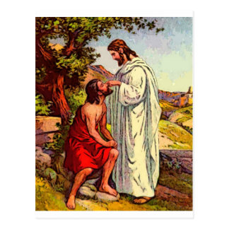 Jesus and The Blind Man Postcard