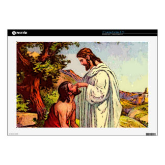 Jesus and The Blind Man Decal For Laptop
