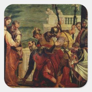 Jesus and the Centurion Square Sticker